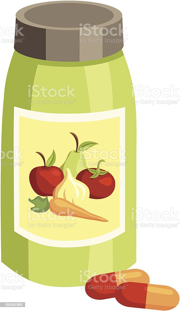 Vitamins Daily Capsules royalty-free stock vector art
