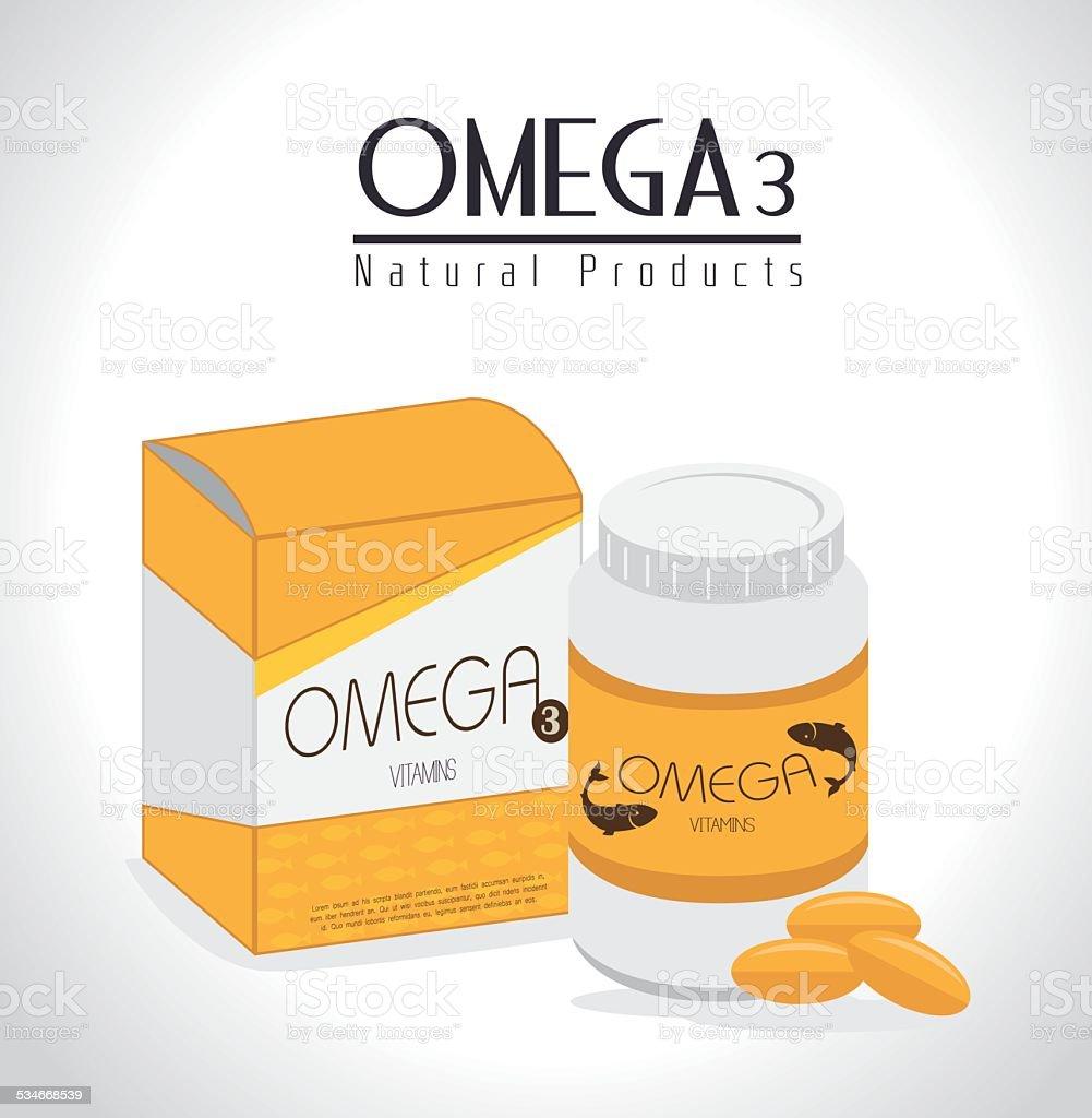 Vitamins design, vector illustration. vector art illustration