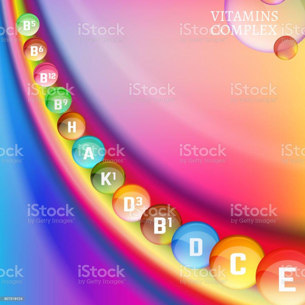 Vitamins Rainbow 04 A vector art illustration