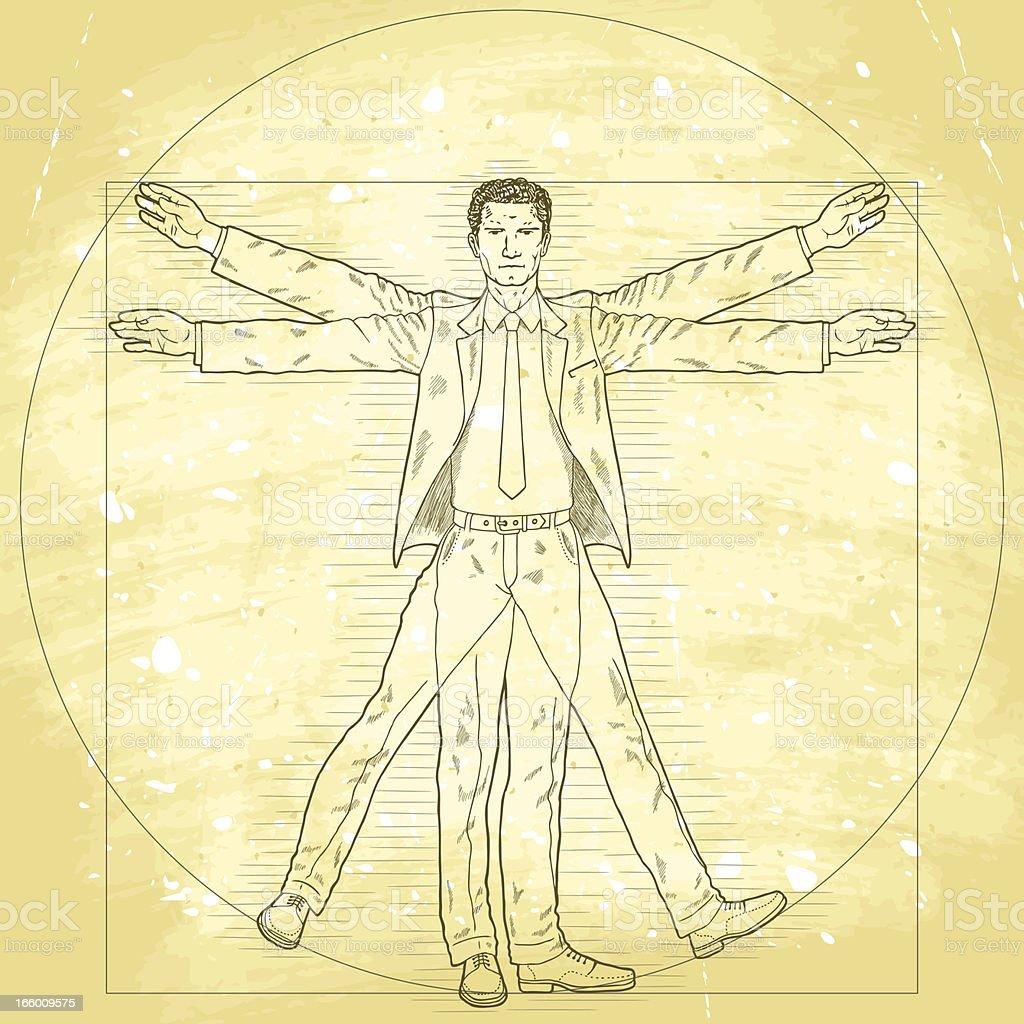 Vitruvian businessman royalty-free stock vector art
