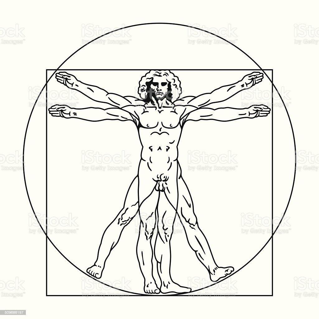 vitruvian man clip art  vector images   illustrations istock Vitruvian Man High Resolution Vitruvian Man Clip Art
