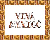Viva Mexico. Tribal Mexico design vector illustration