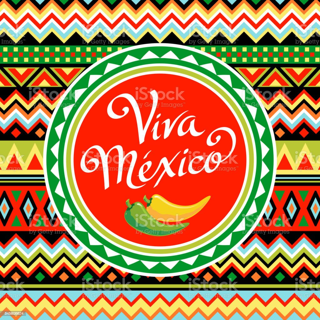 Viva Mexico vector art illustration