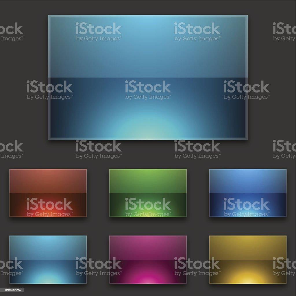 Vivid web buttons royalty-free stock vector art