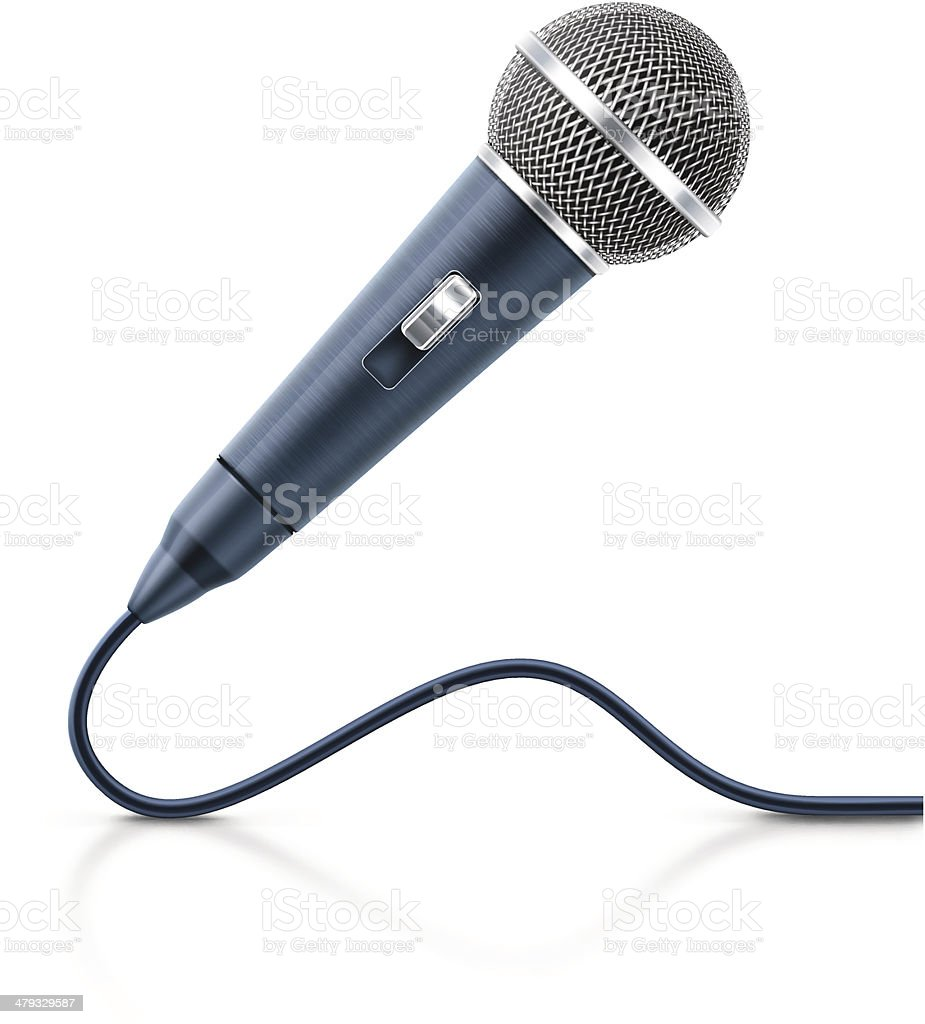 Vocal Microphone royalty-free stock vector art