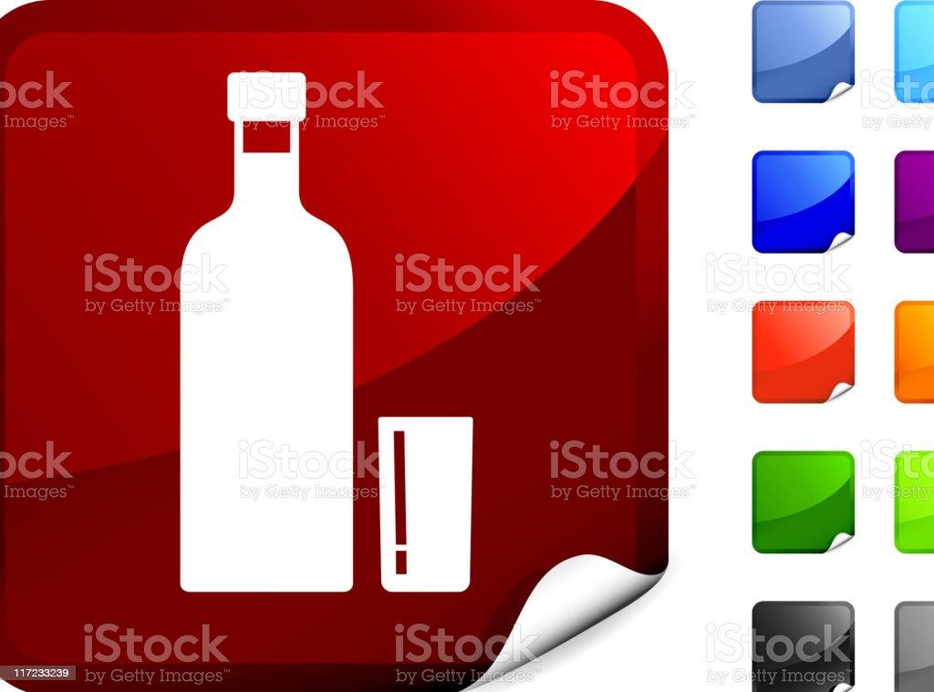 Vodka bottle with shot glass internet royalty free vector art royalty-free stock vector art