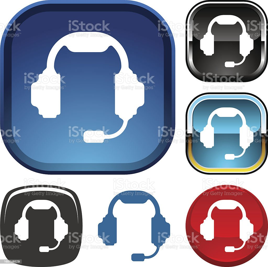 Voice chat icon royalty-free stock vector art