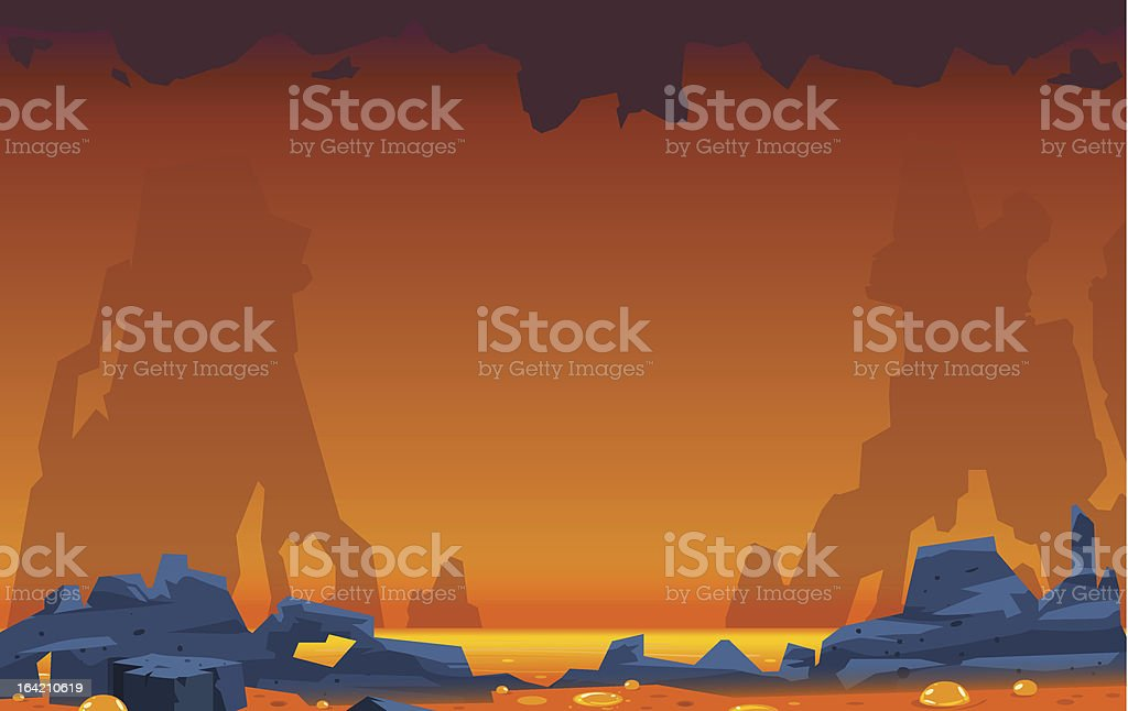 Volcanic Landscape royalty-free stock vector art