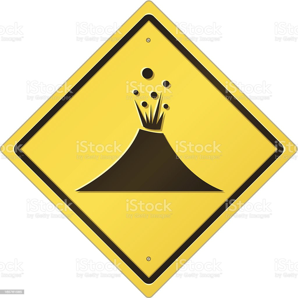 Volcano Area Road Sign royalty-free stock vector art