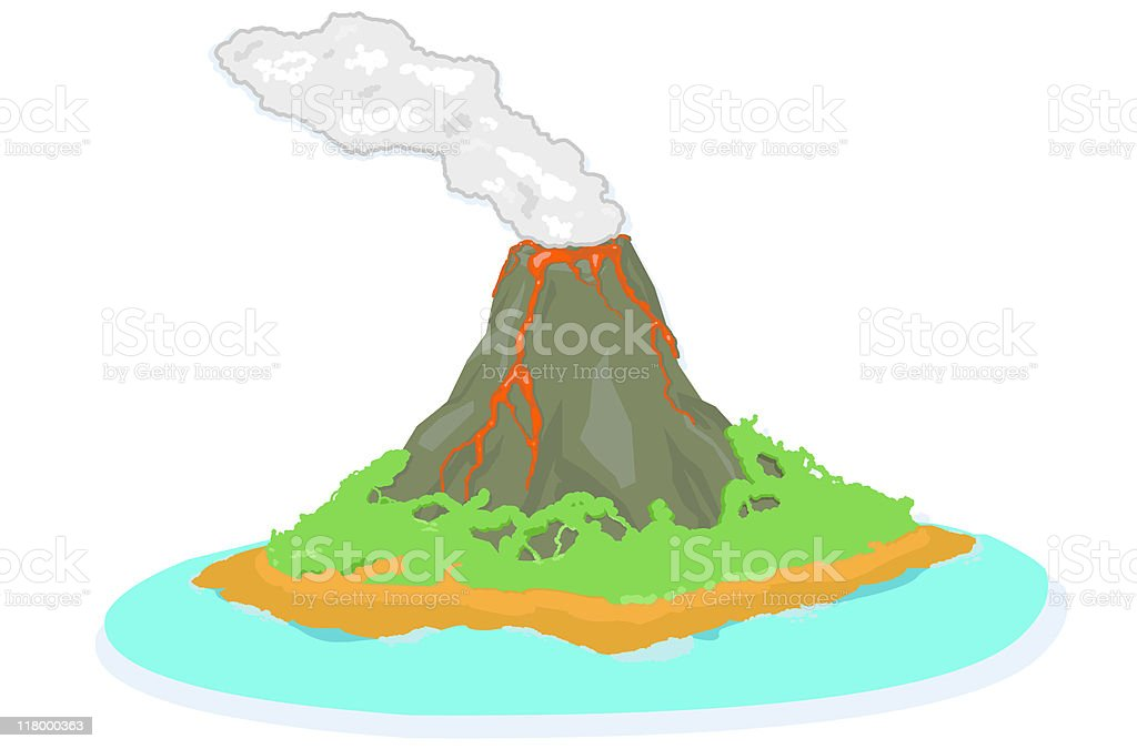 Volcano eruption royalty-free stock vector art