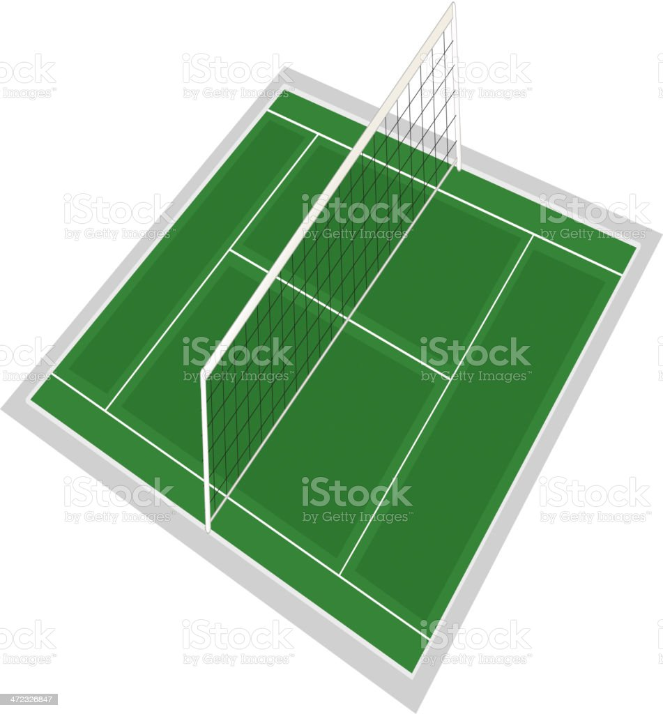 volley ball ground royalty-free stock vector art
