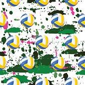 Volley Ball Seamless Pattern