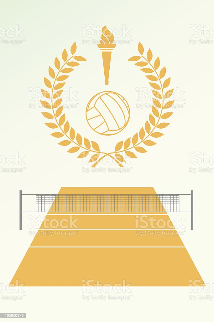 Volley poster and emblem royalty-free stock vector art