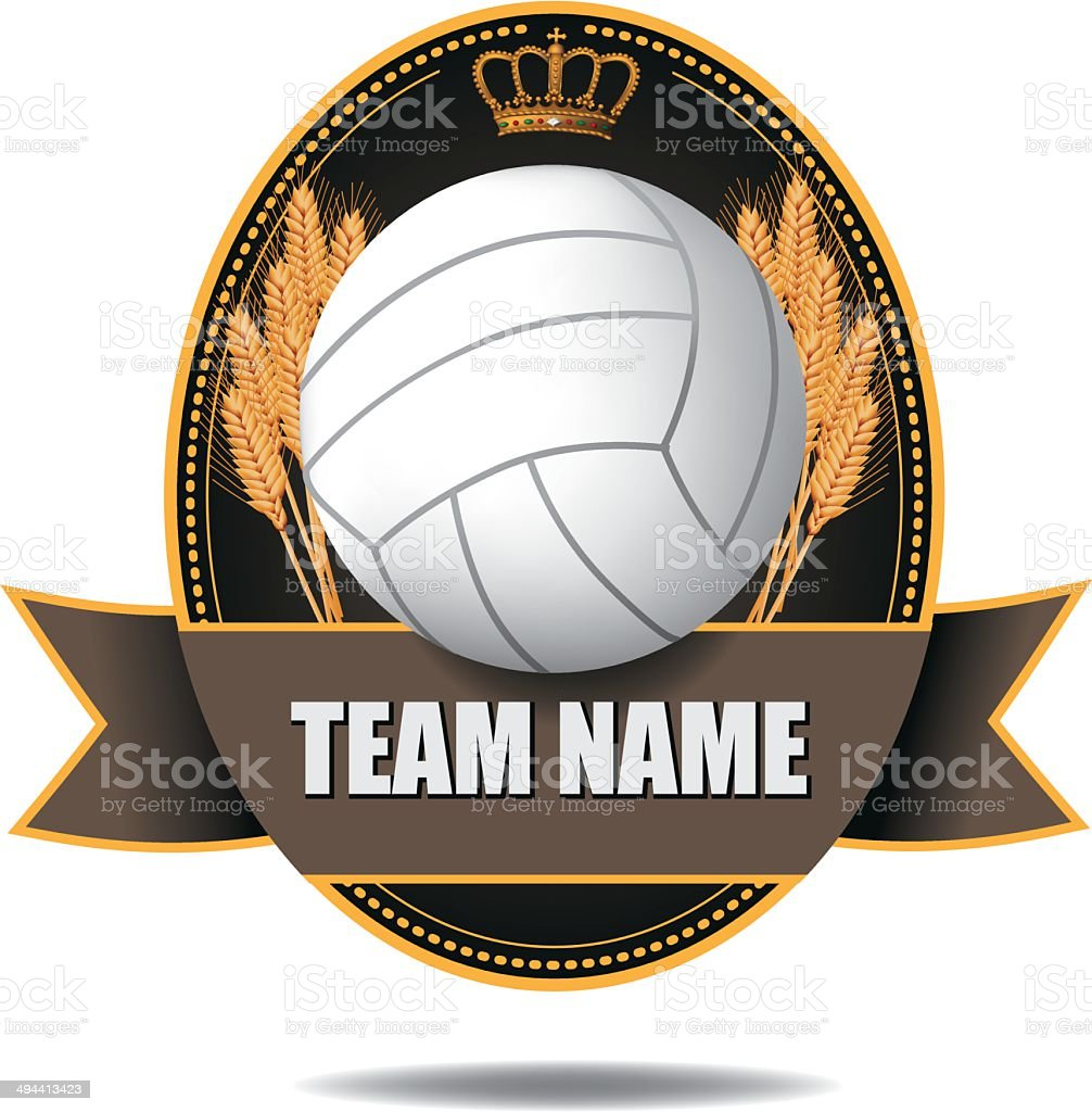 Volleyball badge icon symbol royalty-free stock vector art