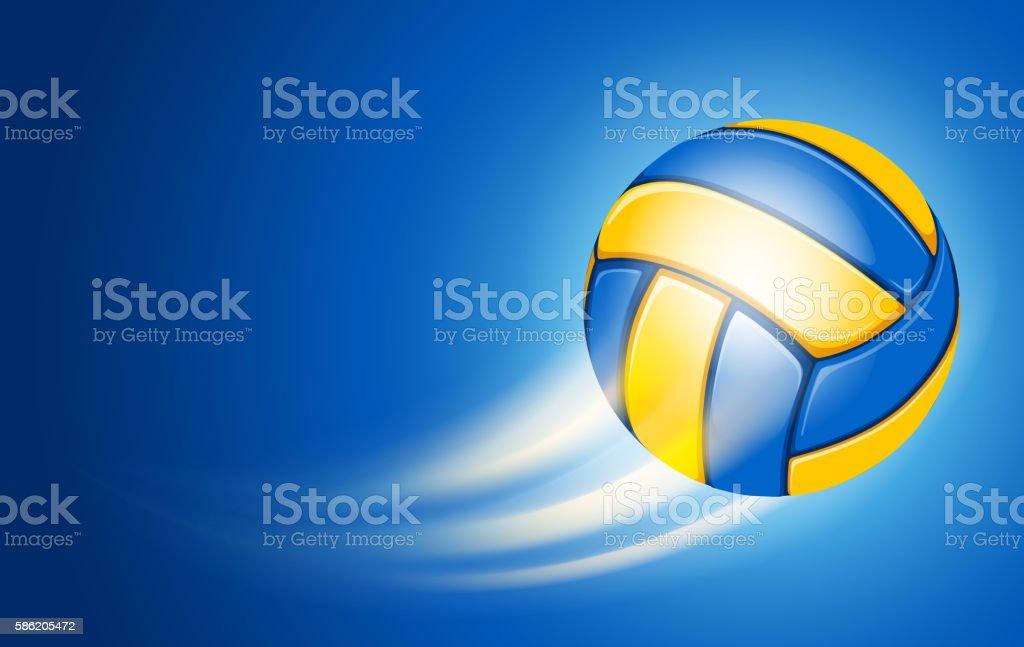 Volleyball Card vector art illustration