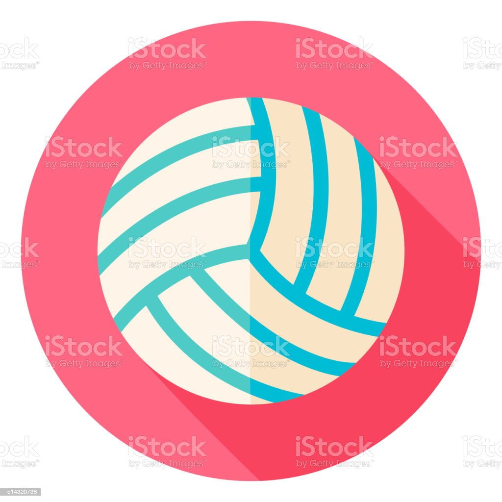 Volleyball Circle Icon vector art illustration