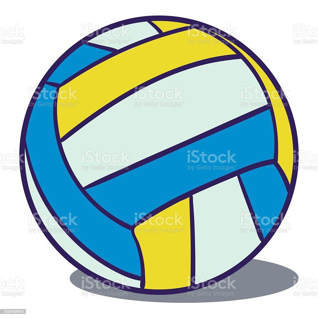 Volley-ball en cuir stock vecteur libres de droits libre de droits