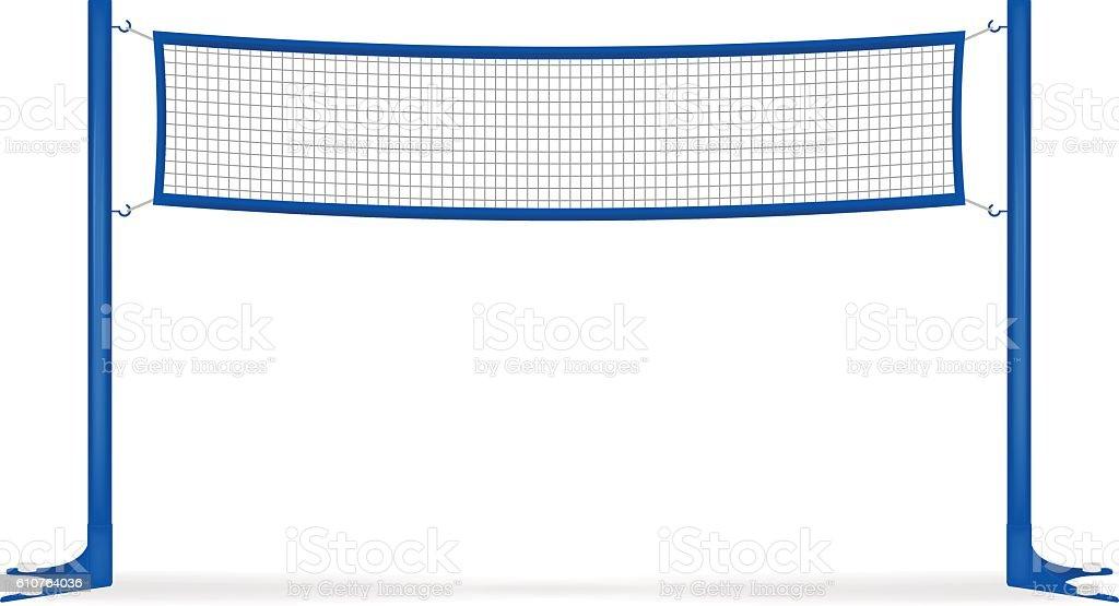 Volleyball net vector art illustration