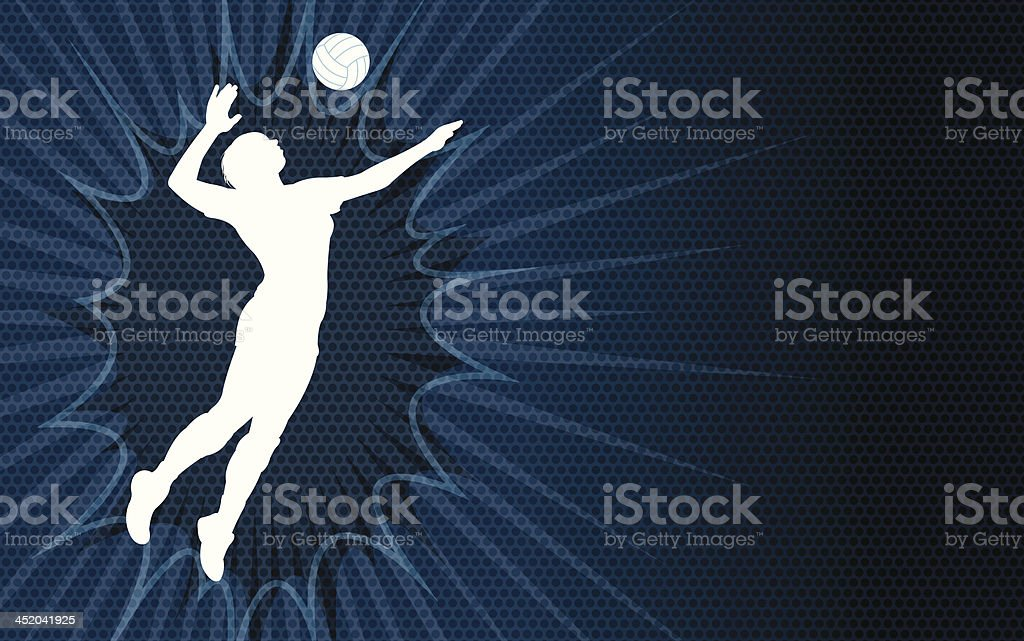 Volleyball Serve Background - female royalty-free stock vector art