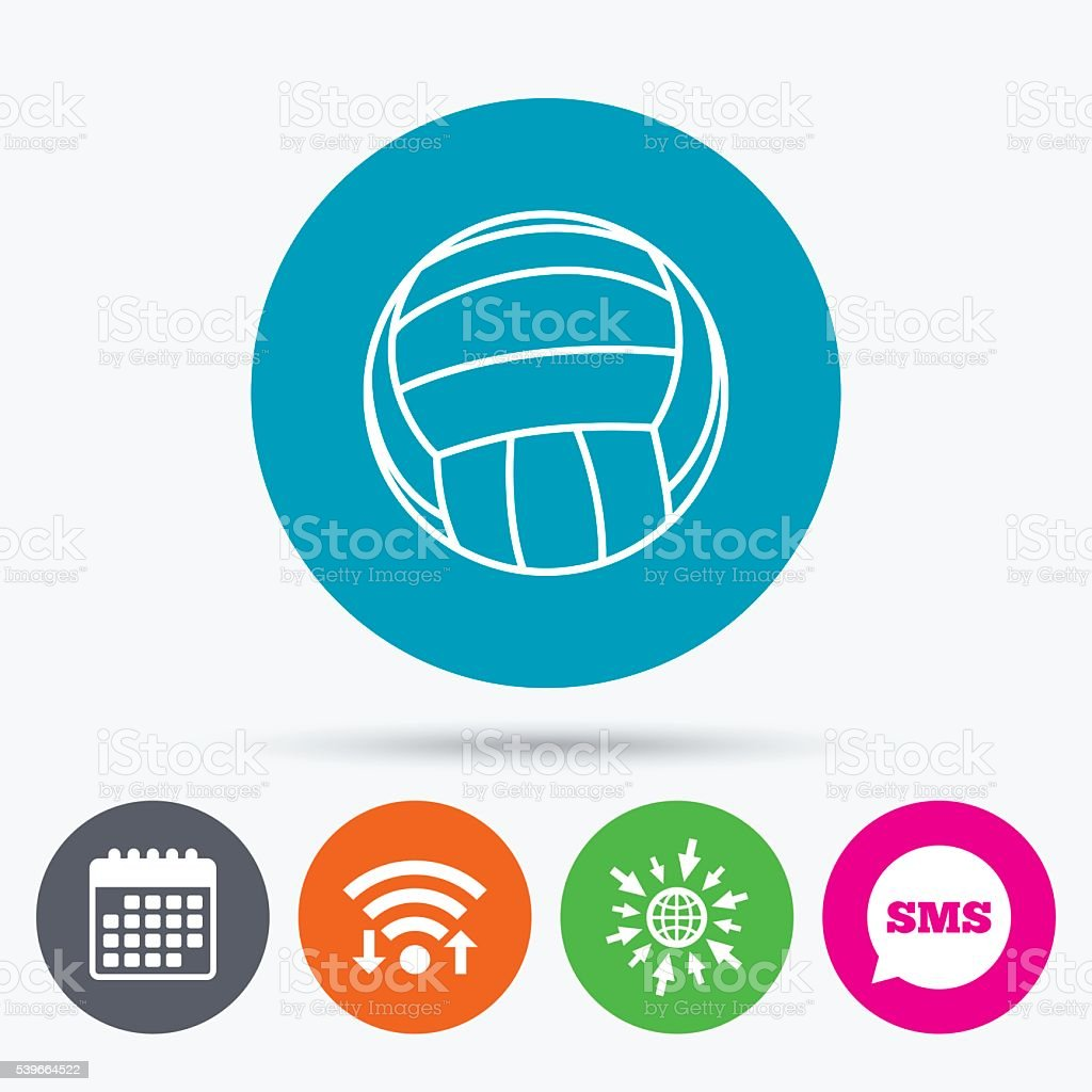 Volleyball sign icon. Beach sport symbol. vector art illustration