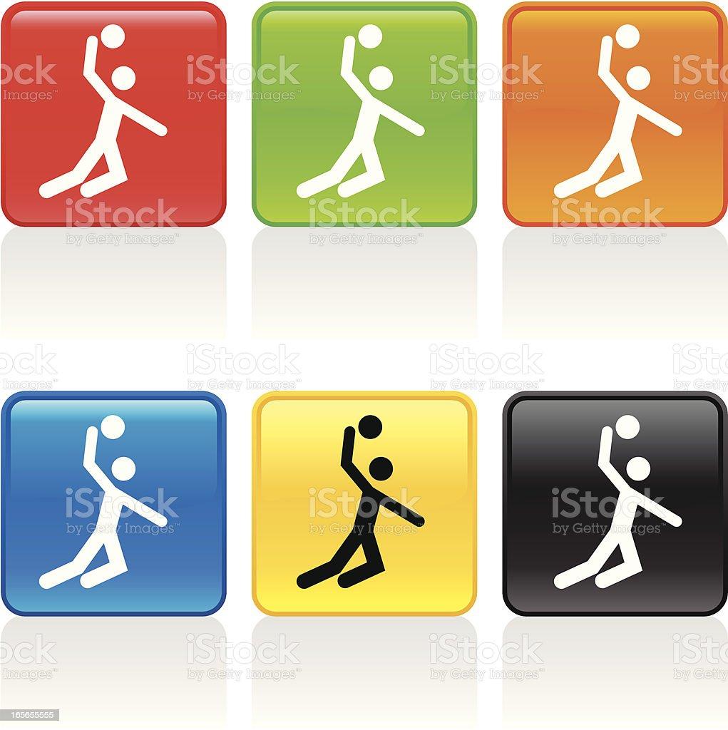 Volleyball Spike Icon vector art illustration