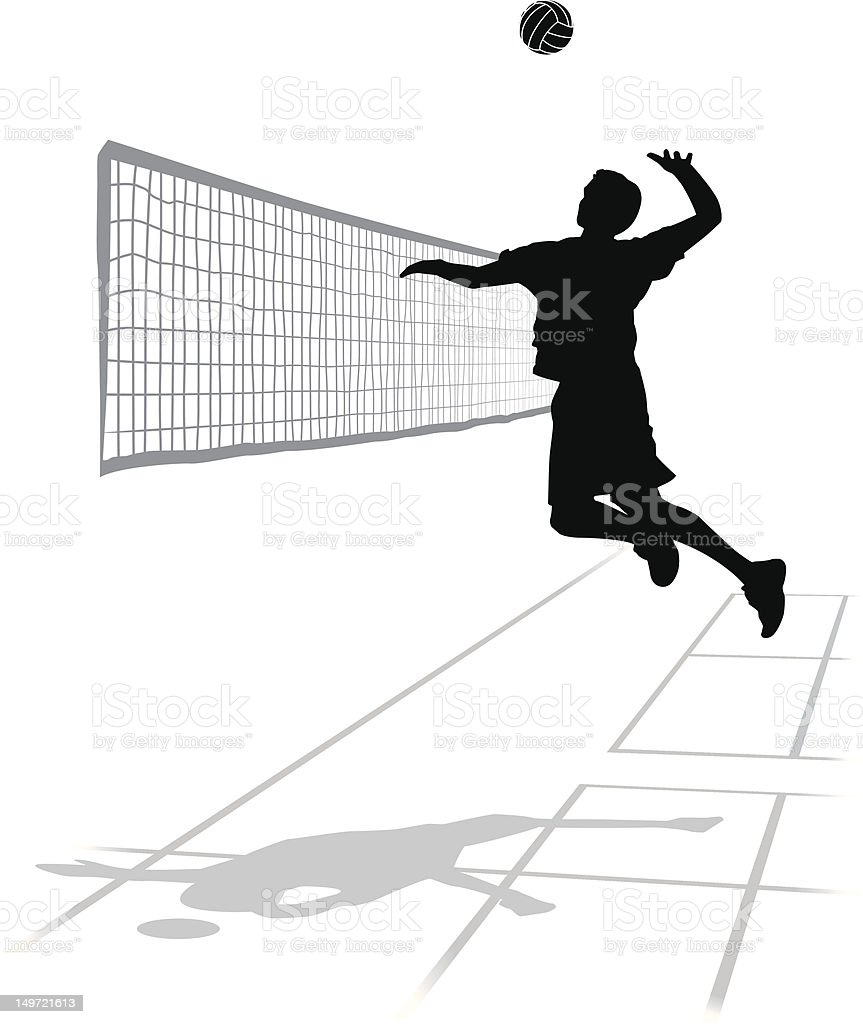 Volleyball - Spike! vector art illustration