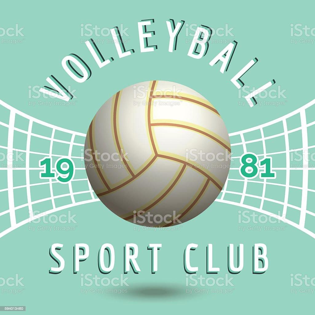 Volleyball sport team emblem vector art illustration