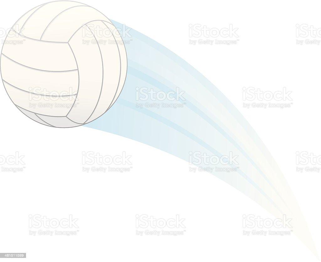 Volleyball Streak vector art illustration