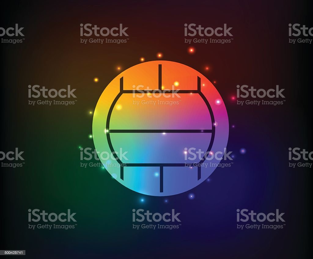 Volleyball symbol,Rainbow vector royalty-free stock vector art