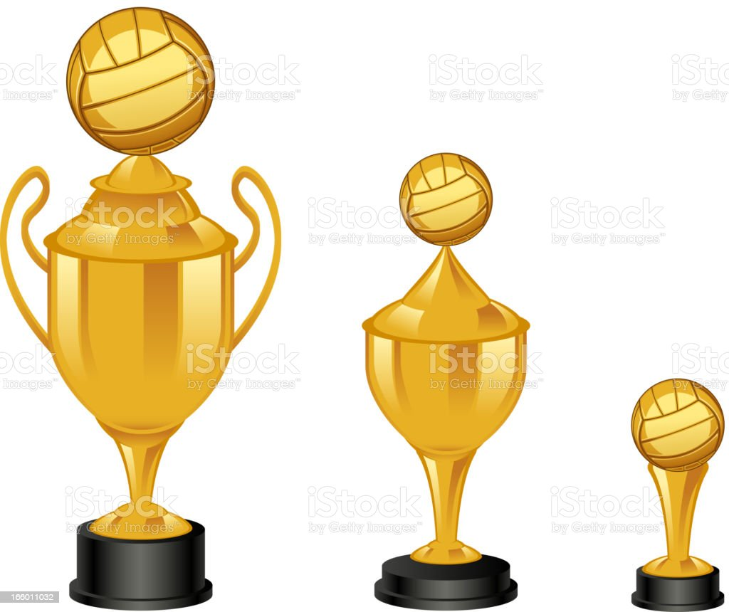 Volleyball trophies royalty-free stock vector art