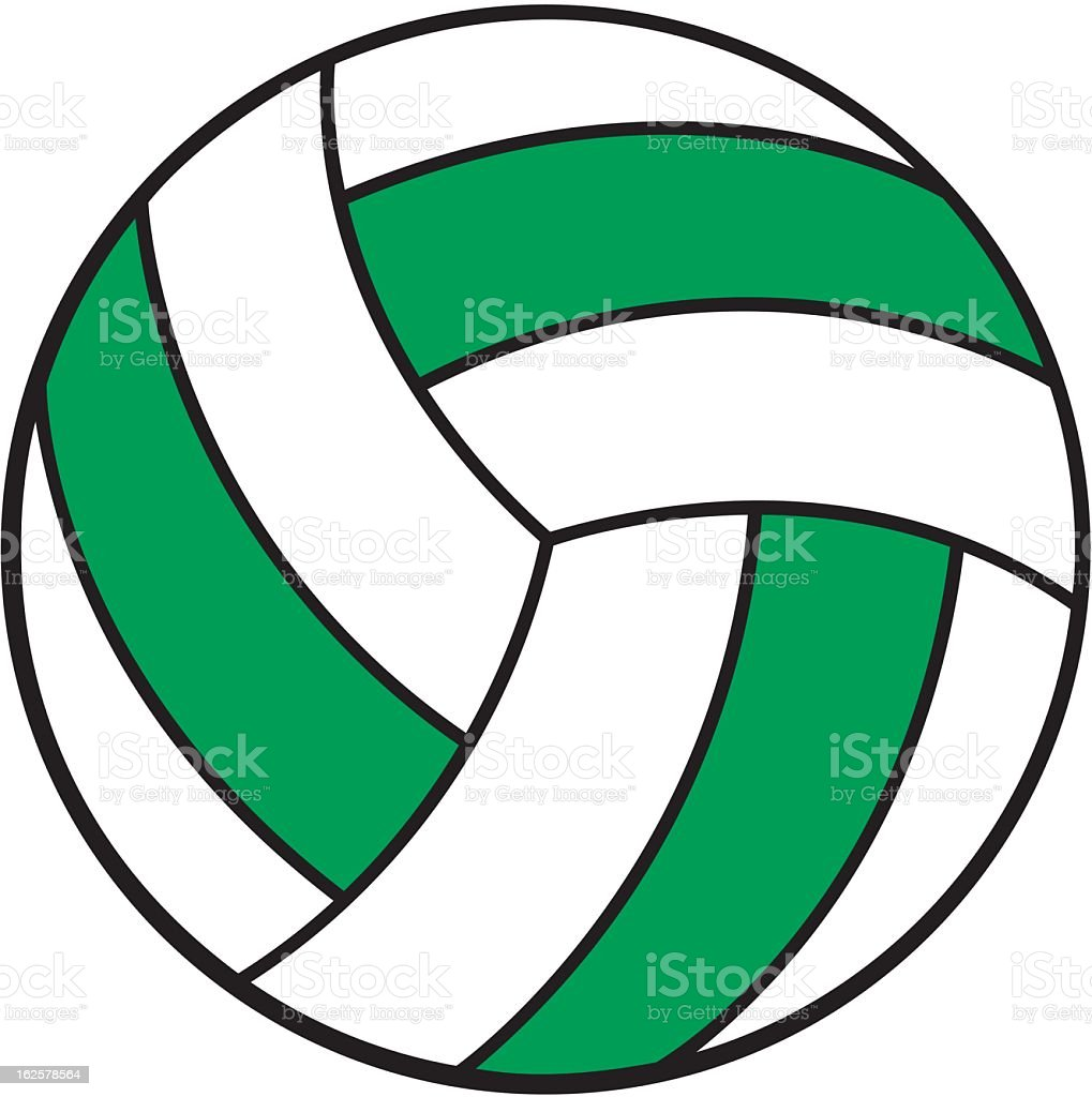 Volleyball royalty-free stock vector art