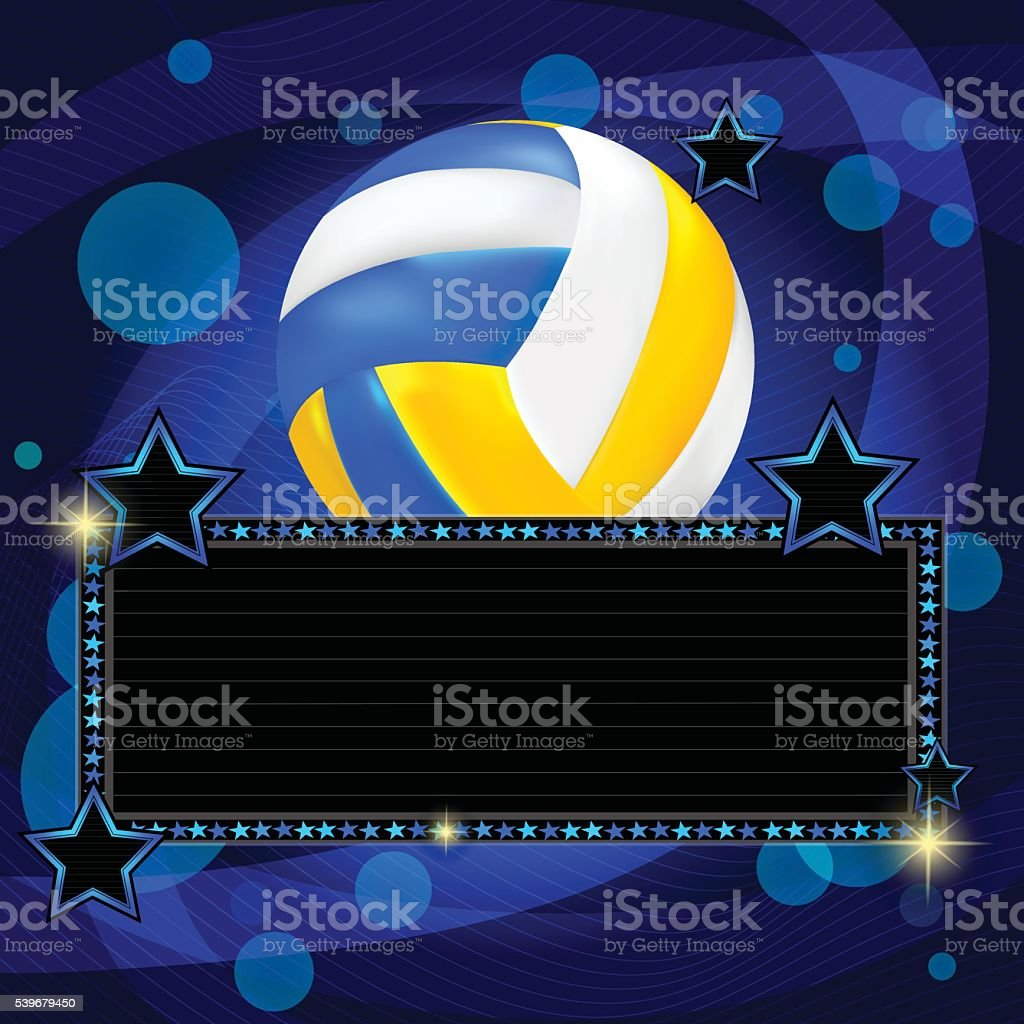 Volleyball With Background vector art illustration