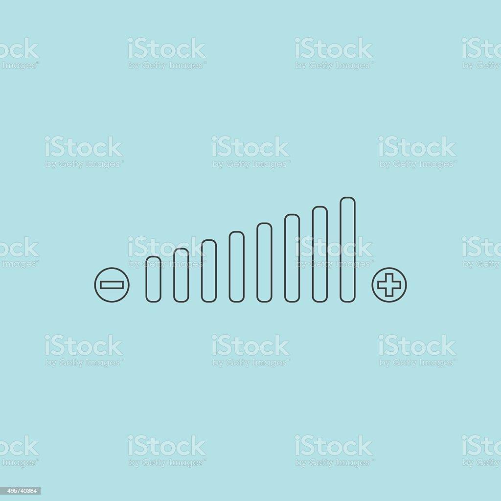 Volume adjustment symbol web icon vector art illustration