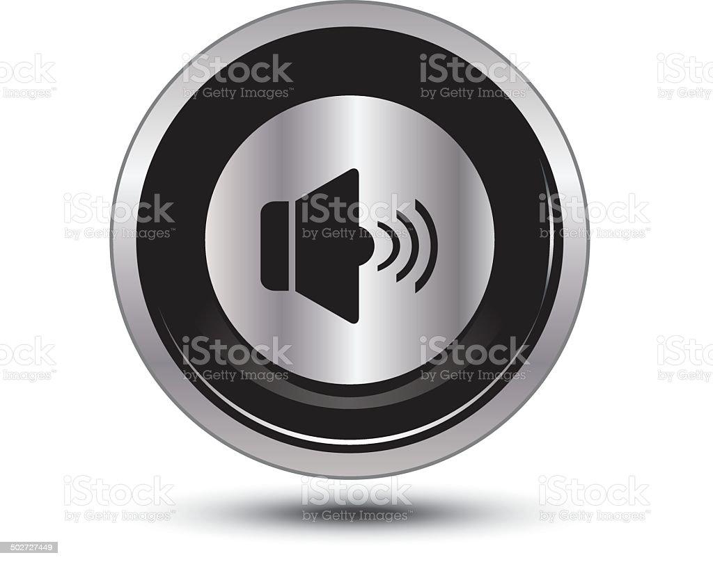 volume button icon vector art illustration