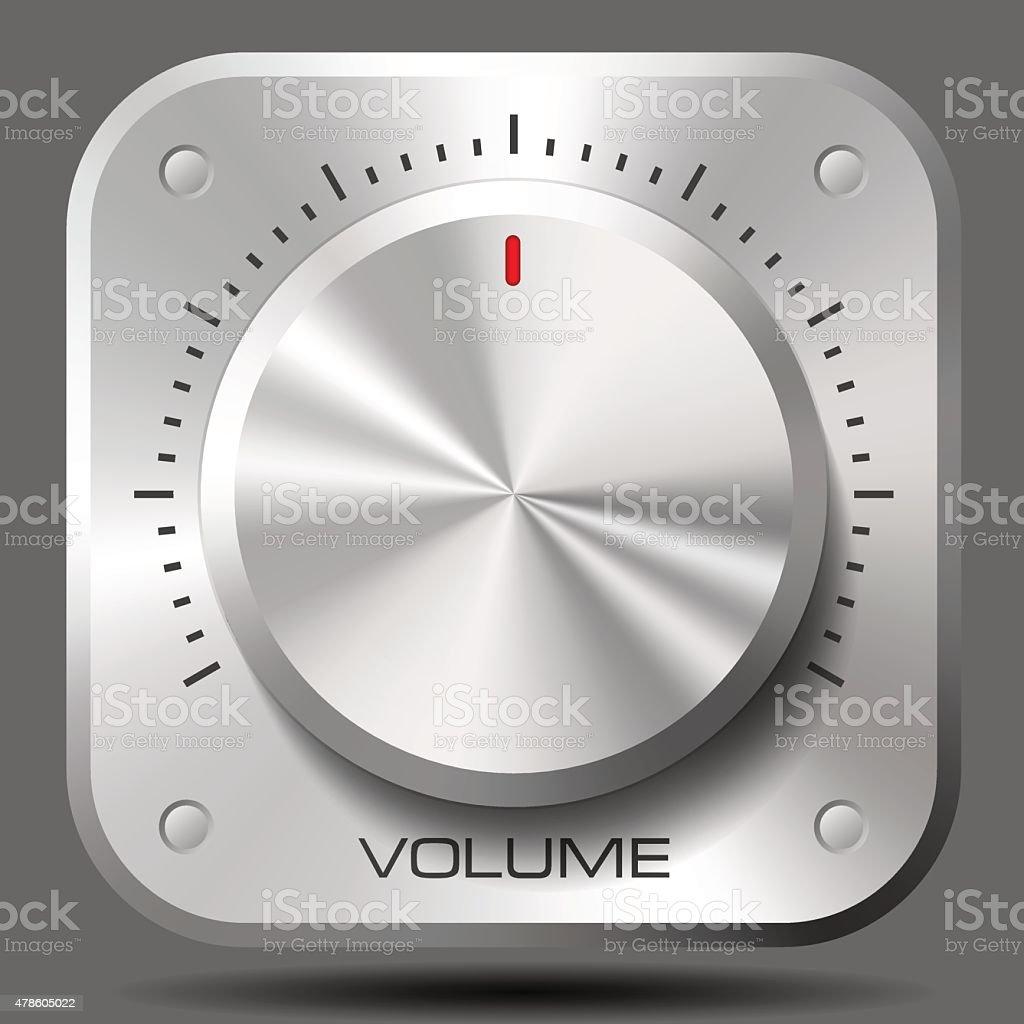 Volume Control Dial vector art illustration
