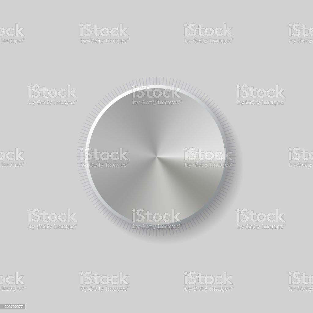 Volume Control Dial White Button Vector royalty-free stock vector art