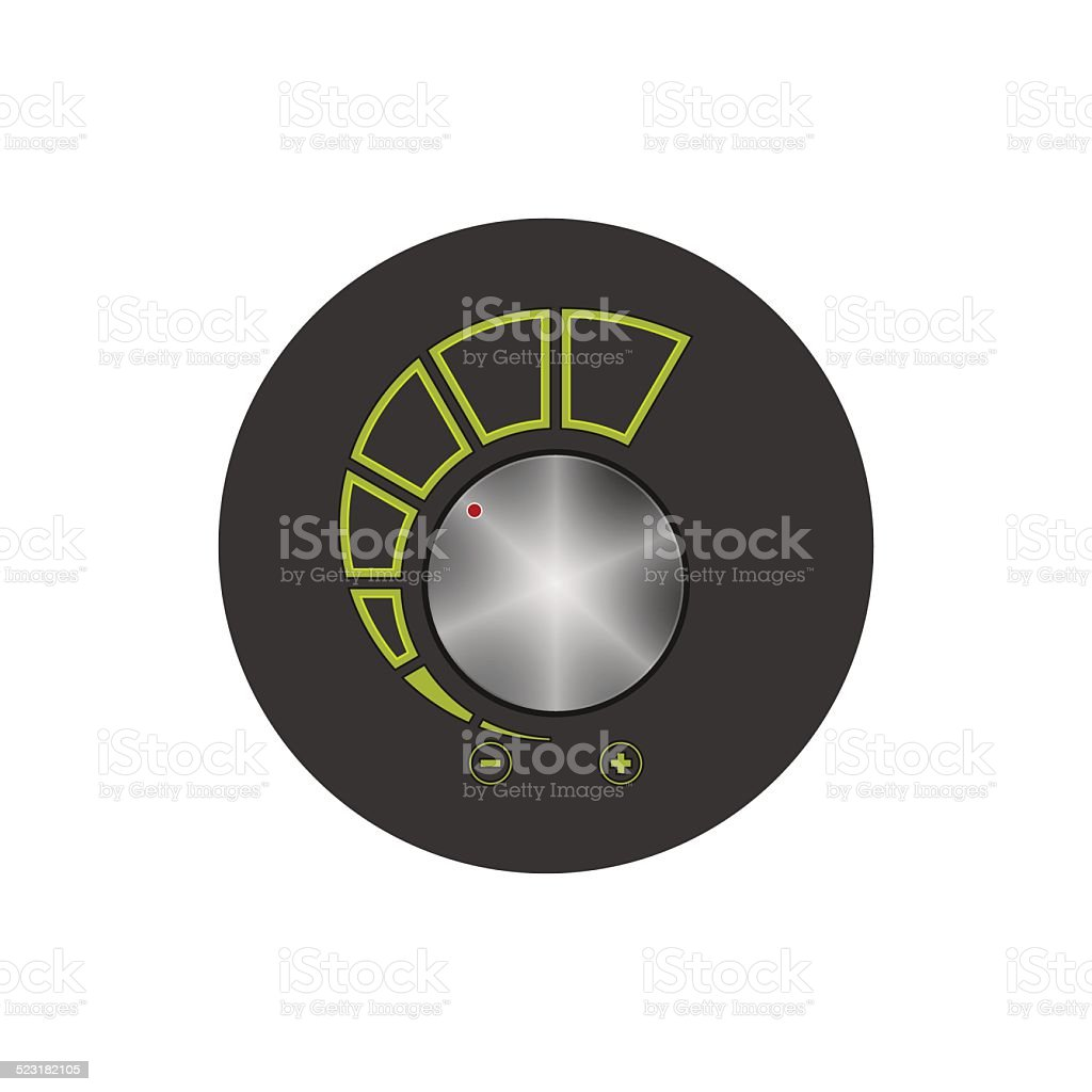 Volume control icon, vector illustration vector art illustration