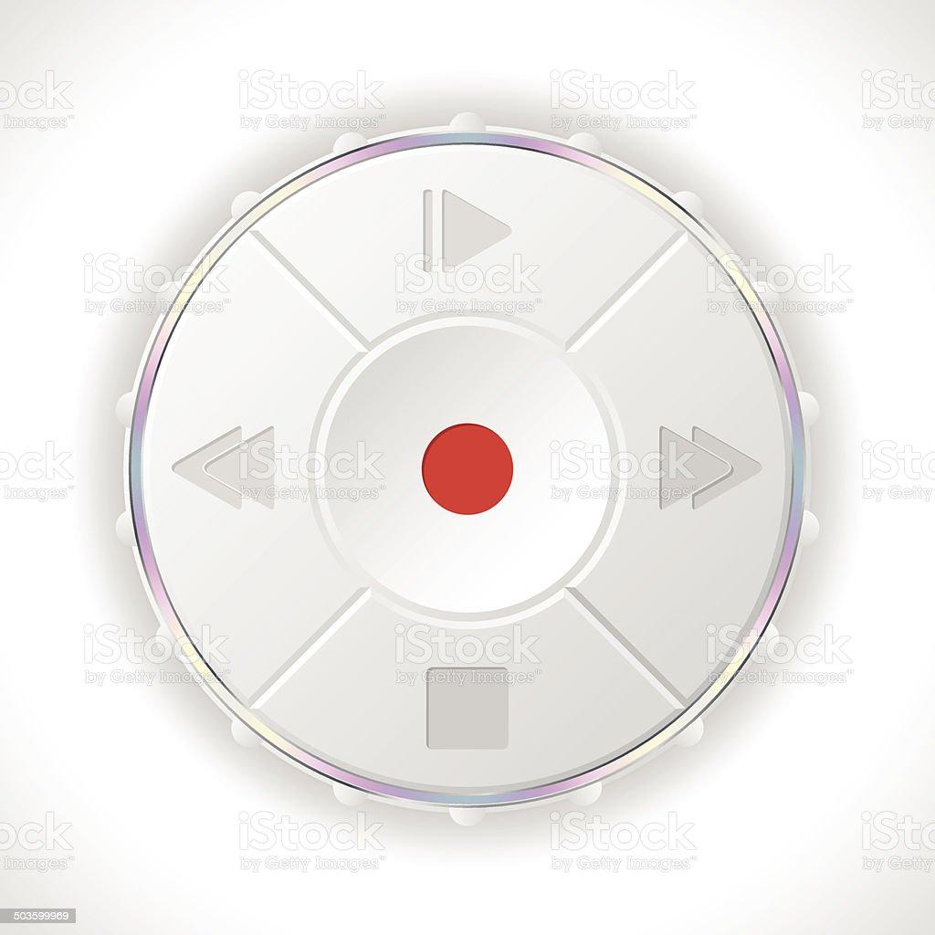 Volume control panel in white vector art illustration