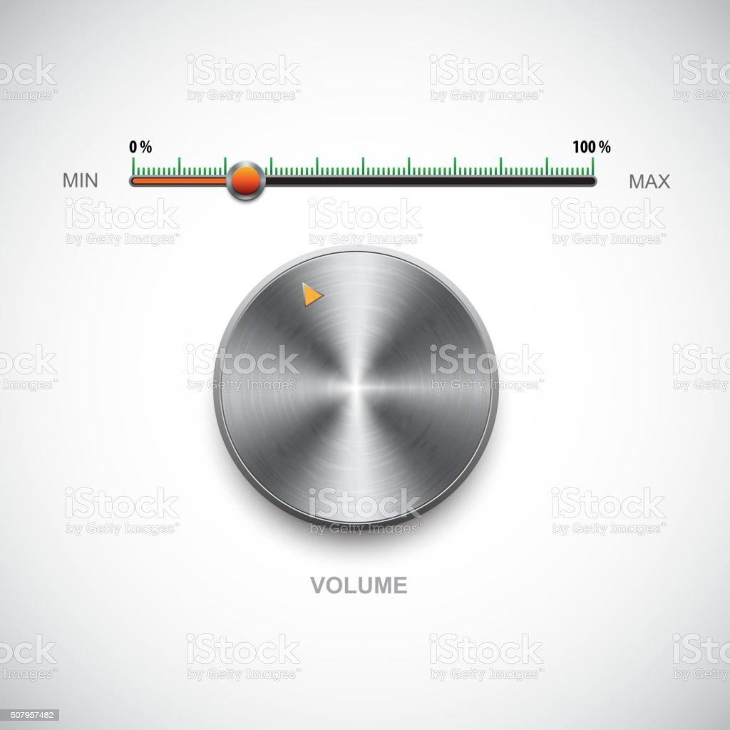 Volume control panel vector art illustration