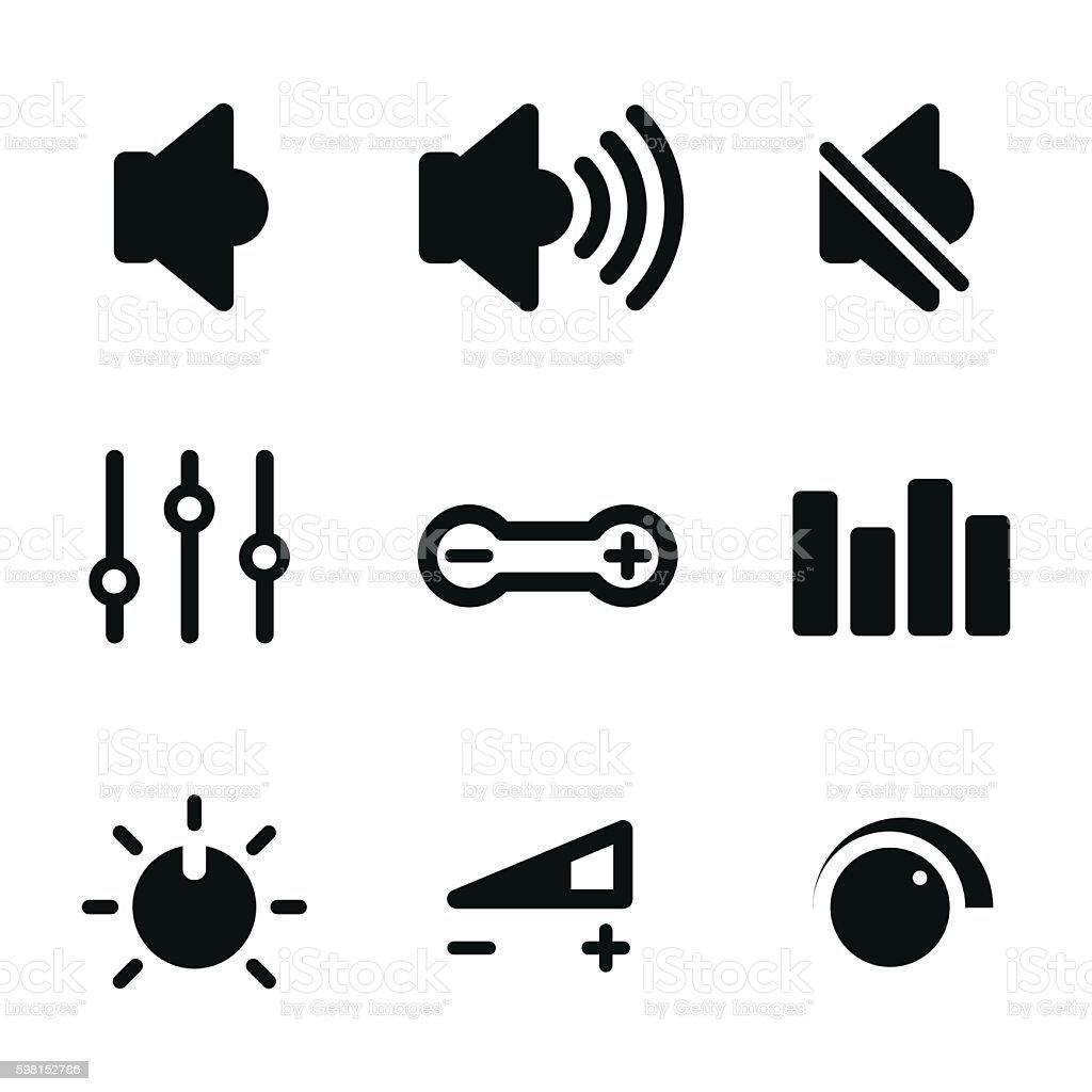 Volume control vector icons. vector art illustration