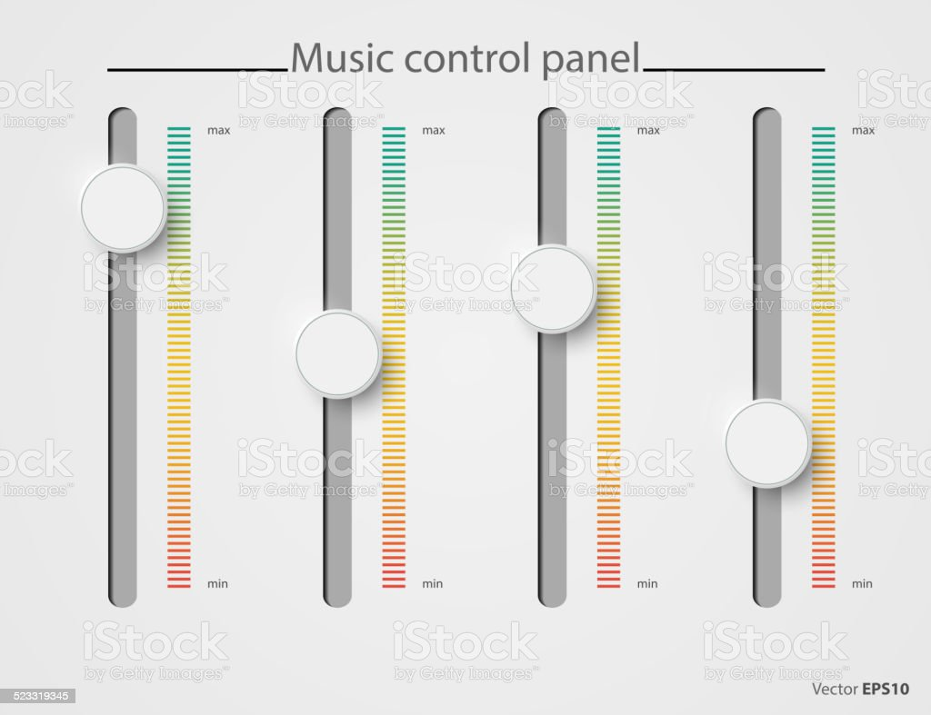 Volume control vector art illustration
