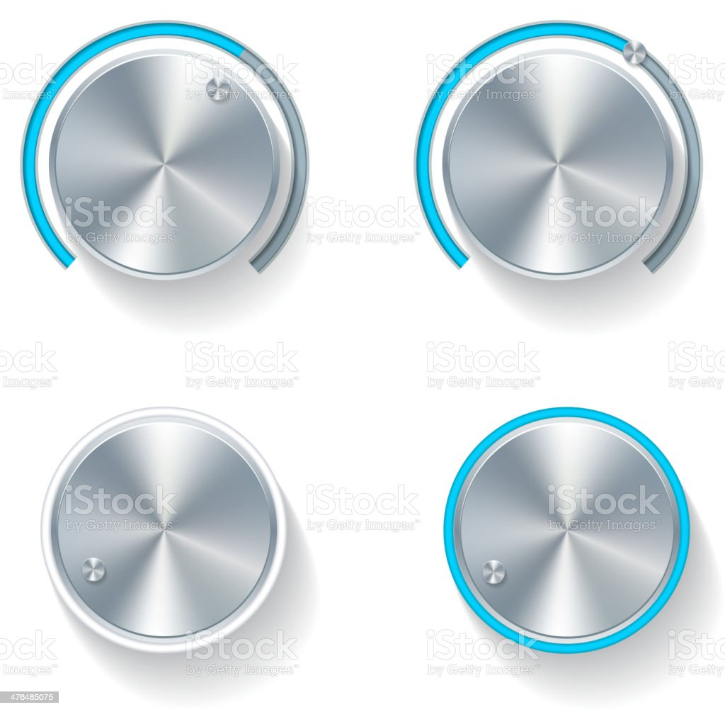 Volume Dials vector art illustration