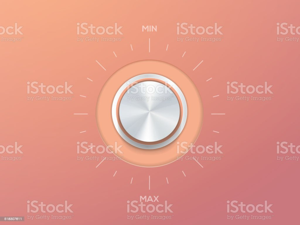 Volume Knob vector art illustration