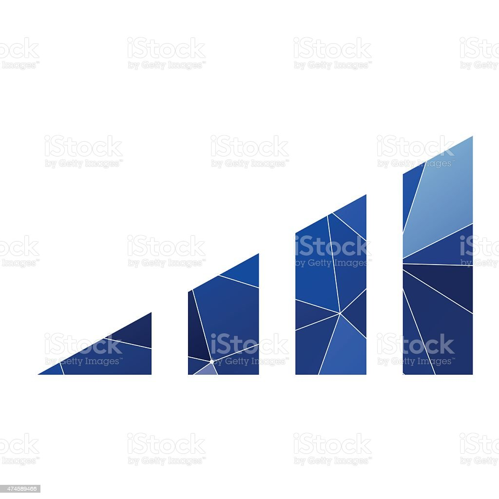 volume level icon Abstract Triangle vector art illustration