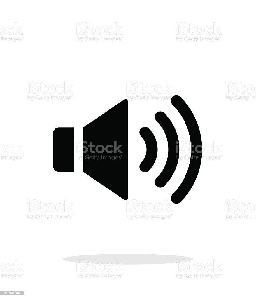 Volume max. Speaker icon on white background. vector art illustration
