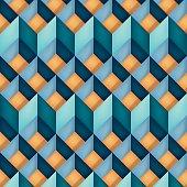 Volume realistic vector texture, diamonds, geometric pattern