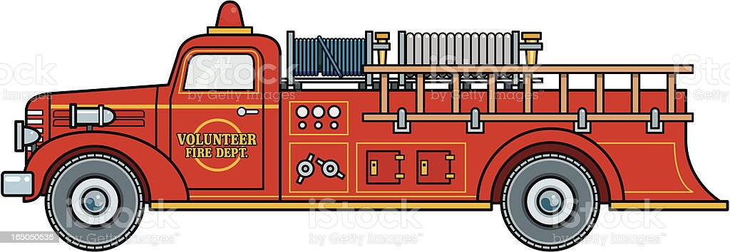 Volunteer firetruck royalty-free stock vector art