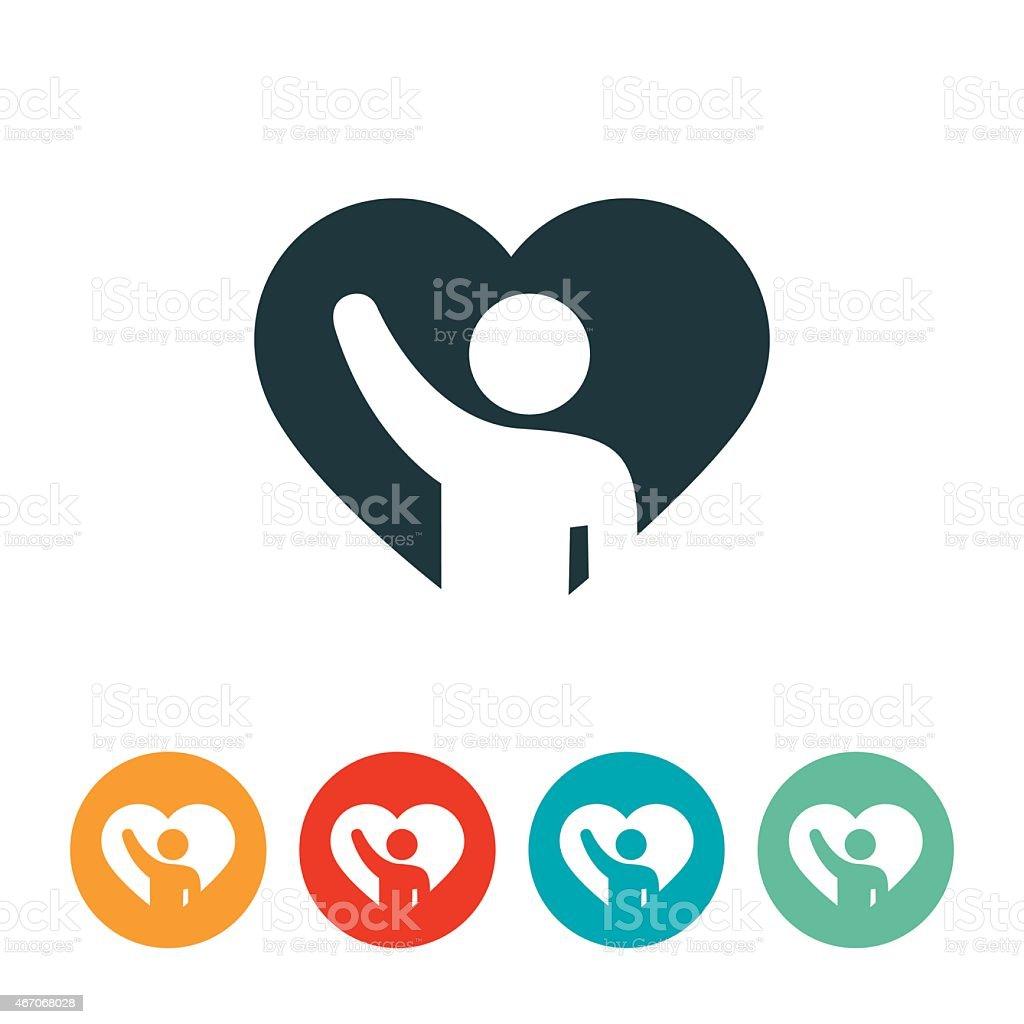 Volunteer Icon vector art illustration