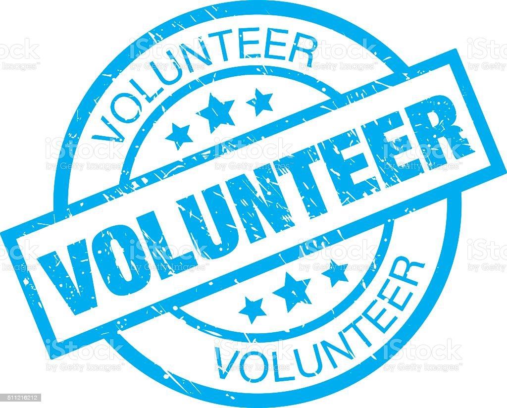 Volunteer Sign vector art illustration