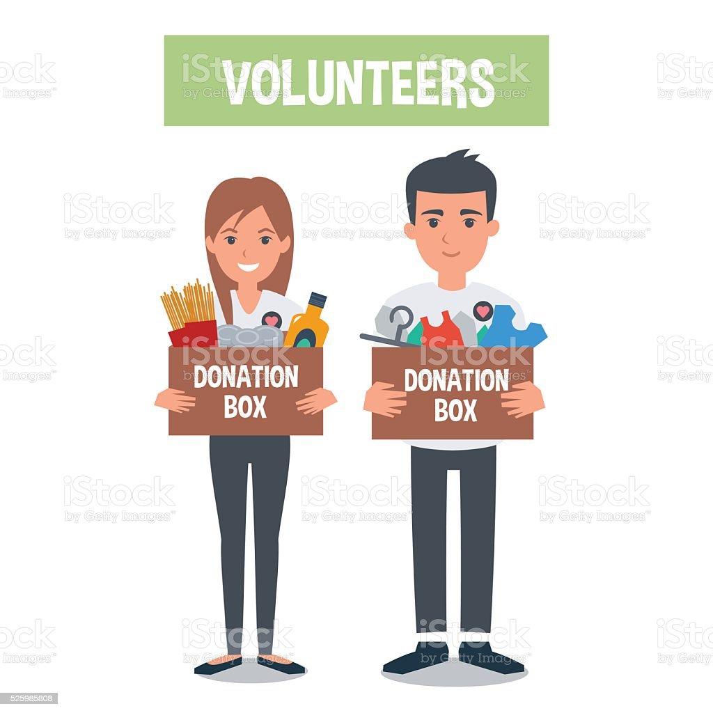 Volunteer vector art illustration